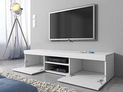 tv m bel lowboard schrank st nder mambo wei matt wei hochglanz 160 cm 1 m bel24. Black Bedroom Furniture Sets. Home Design Ideas