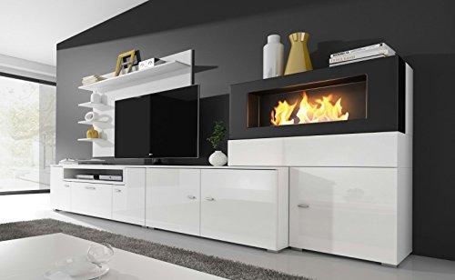 Home innovation moderne wohnwand tv lowboard esszimmer for Moderne wohnzimmer schrankwand