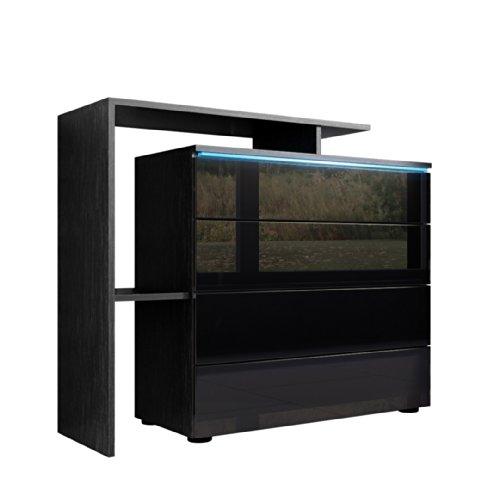 kommode sideboard lissabon v2 korpus in schwarz matt front in schwarz hochglanz wohnw nde. Black Bedroom Furniture Sets. Home Design Ideas