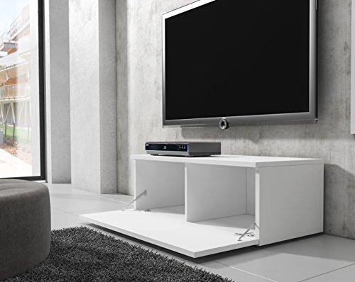 tv m bel lowboard schrank st nder boston korpus wei front wei hochglanz 100 cm 2 wohnw nde. Black Bedroom Furniture Sets. Home Design Ideas