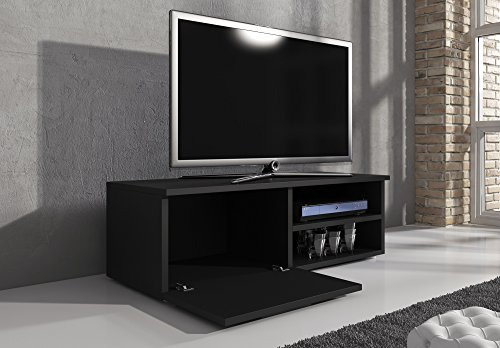 tv m bel lowboard tv element tv schrank tv st nder entertainment lowboard vegas korpus schwarz. Black Bedroom Furniture Sets. Home Design Ideas