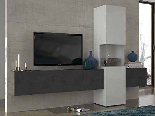 wohnwand mediawand wohnzimmer schrank fernseh schrank tv lowboard wei hochglanz. Black Bedroom Furniture Sets. Home Design Ideas