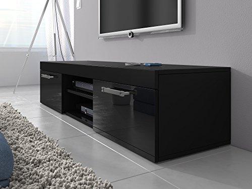 tv m bel lowboard schrank st nder mambo schwarz matt schwarz hochglanz 160 cm 2 wohnw nde. Black Bedroom Furniture Sets. Home Design Ideas