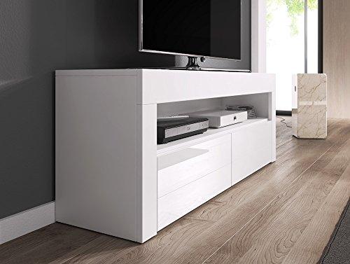 tv element tv schrank tv st nder entertainment lowboard luna 140 cm k rper wei matt fronten. Black Bedroom Furniture Sets. Home Design Ideas
