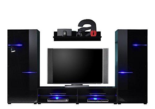 bega 89 836 18 wohnwand tv l sung holz 175 x 80 x 98 cm schwarz g nstig online kaufen. Black Bedroom Furniture Sets. Home Design Ideas