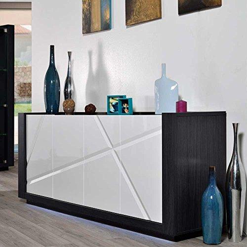 hochglanz sideboard mit led beleuchtung 200 cm breit pharao24 5 wohnw nde. Black Bedroom Furniture Sets. Home Design Ideas
