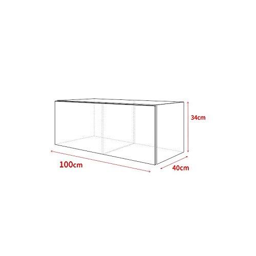 tv schrank lowboard h ngeboard simple mit led rot wei. Black Bedroom Furniture Sets. Home Design Ideas
