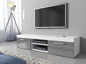 tv m bel lowboard schrank st nder mambo wei matt grau hochglanz 160 cm m bel24. Black Bedroom Furniture Sets. Home Design Ideas