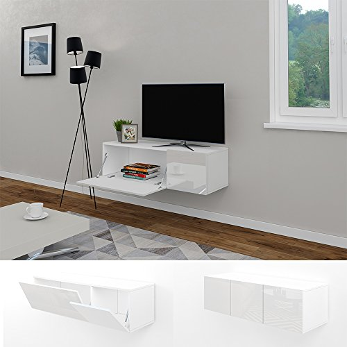 tv lowboard 120 cm wei hochglanz sideboard. Black Bedroom Furniture Sets. Home Design Ideas
