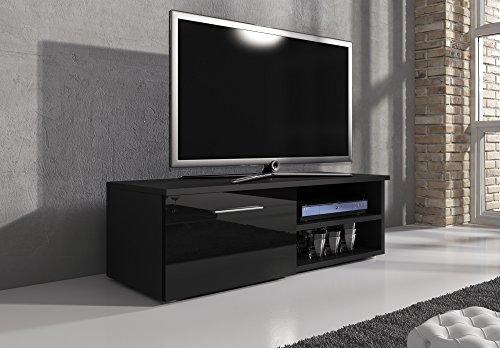 tv m bel lowboard tv element tv schrank tv st nder entertainment lowboard vegas korpus schwarz. Black Bedroom Furniture Sets. Home Design Ideas