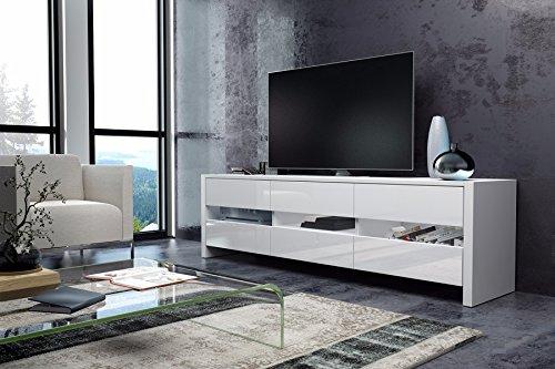 TV Schrank Lowboard Sideboard SKY (weiß matt / weiß hochglanz)