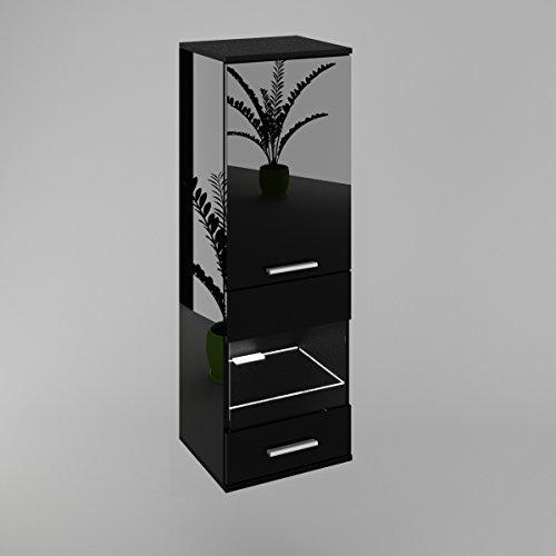 h ngevitrine glasvitrine h ngeschrank in schwarz hochglanz mit led schwarz hochglanz g nstig. Black Bedroom Furniture Sets. Home Design Ideas