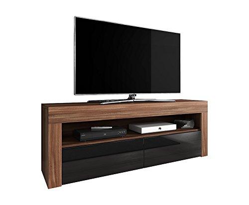 tv element tv schrank tv st nder entertainment lowboard luna 140 cm k rper pflaumenholz matt. Black Bedroom Furniture Sets. Home Design Ideas