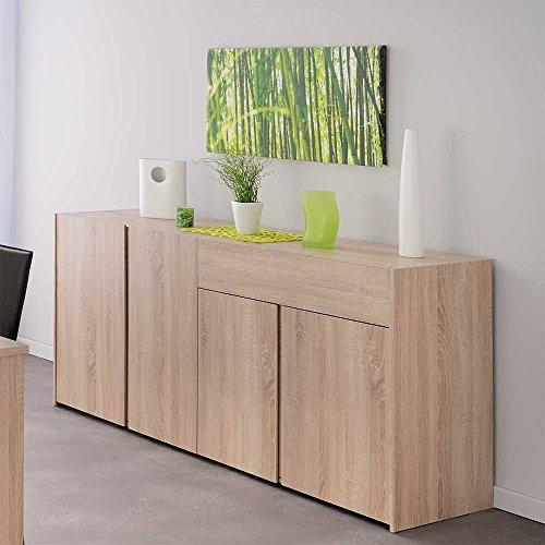 esszimmer sideboard in eiche sonoma grifflos pharao24 m bel24. Black Bedroom Furniture Sets. Home Design Ideas