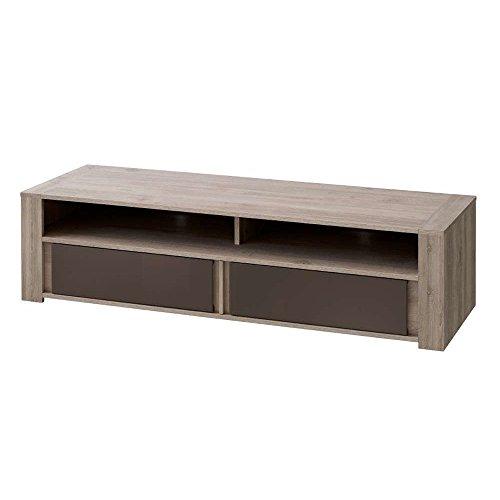 justhome boston t11 lowboard tv board fernsehtisch hxbxt 40x147x50 cm tr ffel eiche braun. Black Bedroom Furniture Sets. Home Design Ideas