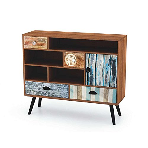 justhome mezo km 3 kommode sideboard wohnzimmerschrank lxbxh 93x29x80 cm bunt g nstig online. Black Bedroom Furniture Sets. Home Design Ideas