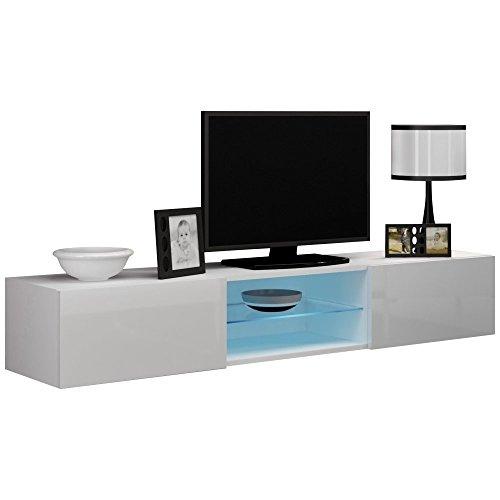 justhome vigo glas lowboard tv board fernsehtisch groe farbauswahl 0 m bel24 wohnw nde. Black Bedroom Furniture Sets. Home Design Ideas