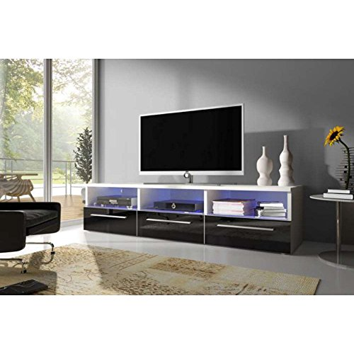 justhome vox ii lowboard tv board fernsehtisch hxbxt 34 8x150x45 5 cm farbe wei matt. Black Bedroom Furniture Sets. Home Design Ideas