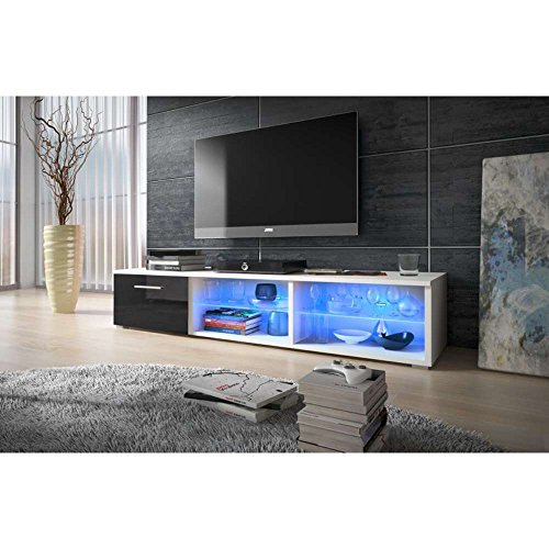 justhome vox v lowboard tv board fernsehtisch hxbxt 34 8x150x45 5 cm farbe wei matt. Black Bedroom Furniture Sets. Home Design Ideas