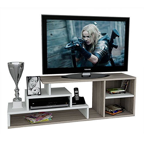 luca wohnwand tv lowboard tv board fernsehtisch in modernem design g nstig online kaufen. Black Bedroom Furniture Sets. Home Design Ideas