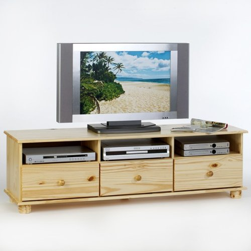 lowboard tv m bel bern fernsehkommode hifi m bel unterschrank mit 3 schubladen kiefer massiv. Black Bedroom Furniture Sets. Home Design Ideas