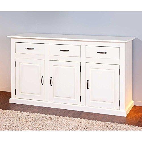 massivholz sideboard in wei skandinavischer landhausstil pharao24 g nstig online kaufen. Black Bedroom Furniture Sets. Home Design Ideas