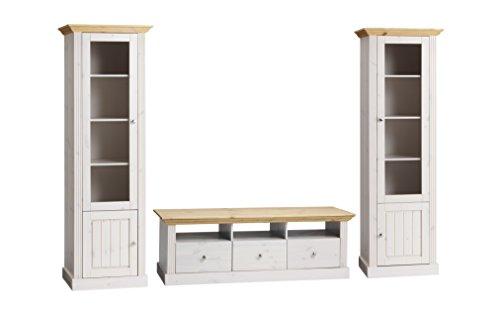 monaco wohnwand kiefer massiv g nstig online kaufen wohnw nde. Black Bedroom Furniture Sets. Home Design Ideas