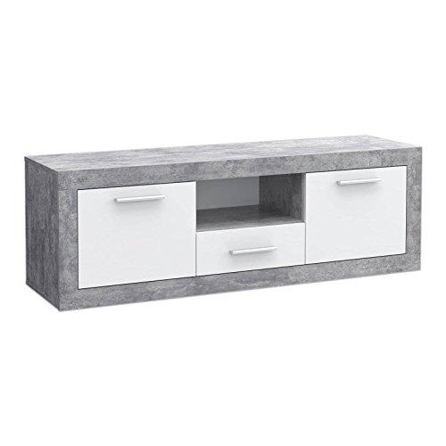 roller lowboard baccio beton optik wei 148 50 cm m bel24. Black Bedroom Furniture Sets. Home Design Ideas