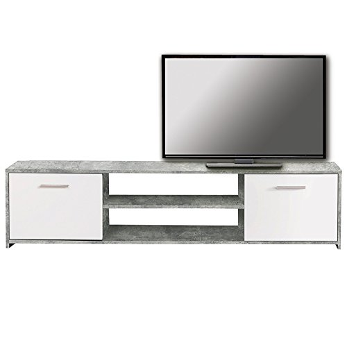roller lowboard paco beton optik wei 160 cm g nstig online kaufen m bel24 wohnw nde. Black Bedroom Furniture Sets. Home Design Ideas