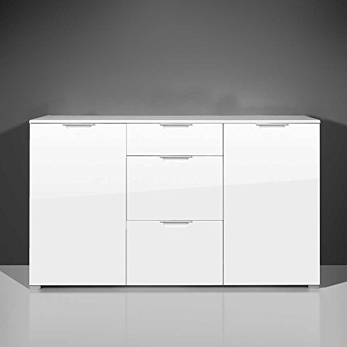 schlafzimmer sideboard in hochglanz wei 40 cm tief pharao24 g nstig online kaufen wohnw nde. Black Bedroom Furniture Sets. Home Design Ideas