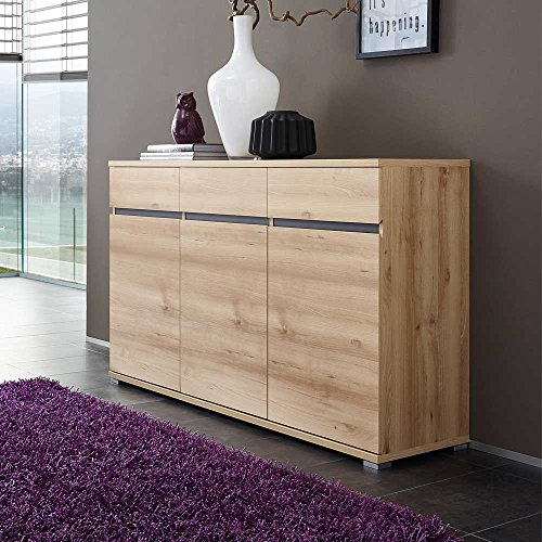 sideboard in buche dekor grifflos pharao24 g nstig online kaufen wohnw nde. Black Bedroom Furniture Sets. Home Design Ideas