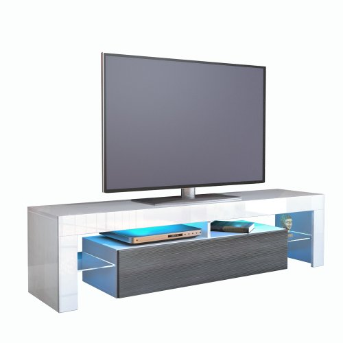 tv board lowboard lima korpus in wei front in avola anthrazit 0 m bel24. Black Bedroom Furniture Sets. Home Design Ideas