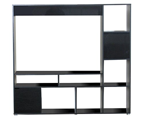 tv hifi schrank casie m bel regal wohnwand fernseher wandschrank schrank schwarz g nstig online. Black Bedroom Furniture Sets. Home Design Ideas