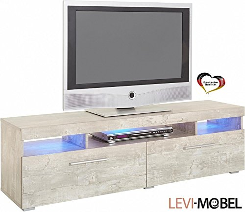 tv lowboard wohnzimmer wohnwand anbauwand beton optik neu. Black Bedroom Furniture Sets. Home Design Ideas