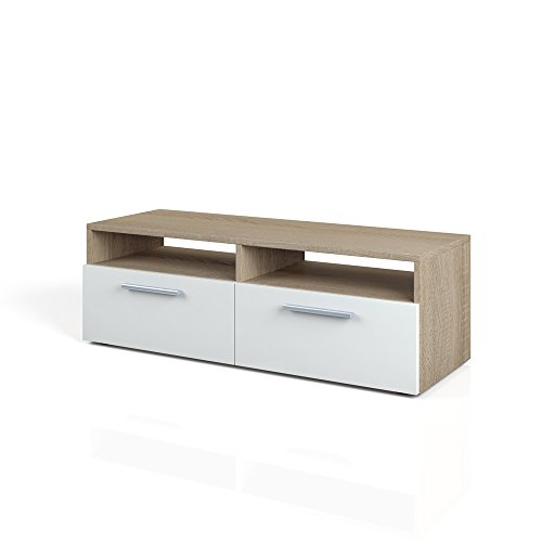 tv lowboard 95 cm eiche sonoma fernsehtisch sideboard. Black Bedroom Furniture Sets. Home Design Ideas