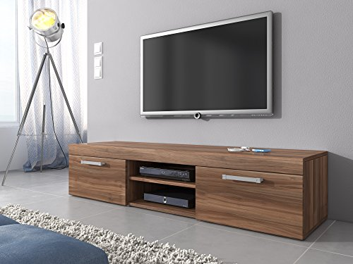 tv m bel lowboard schrank st nder mambo walnuss braun eiche 160 cm g nstig online kaufen wohnw nde. Black Bedroom Furniture Sets. Home Design Ideas