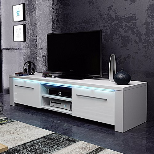 tv schrank lowboard sideboard conoy mit led wei matt wei hochglanz g nstig online kaufen. Black Bedroom Furniture Sets. Home Design Ideas