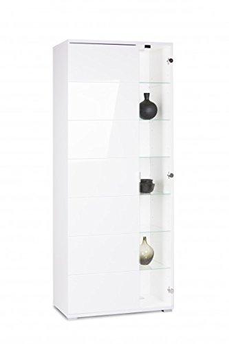 Vitrine 39virgin 239 glasvitrine vitrinenschrank wohnzimmer for Vitrinenschrank wei hochglanz