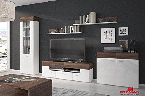 wohnwand anbauwand 5 teilig wei schwarz hochglanz neu jpg. Black Bedroom Furniture Sets. Home Design Ideas