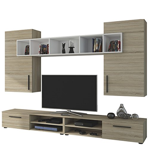 wohnwand anbauwand banzai wohnzimmer set modernes mediawand schrankwand wohnzimmerschrank. Black Bedroom Furniture Sets. Home Design Ideas
