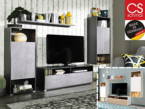 wohnwand anbauwand schrankwand tv wand mediawand wohnzimmerschr nke sitito i g nstig online. Black Bedroom Furniture Sets. Home Design Ideas