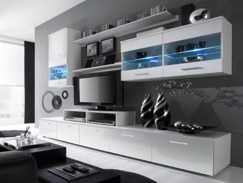 wohnwand logo wei hochglanz g nstig online kaufen wohnw nde. Black Bedroom Furniture Sets. Home Design Ideas