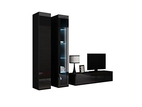 Wohnwand vigo x anbauwand modernes wohnzimmer set for Wohnwand vigo