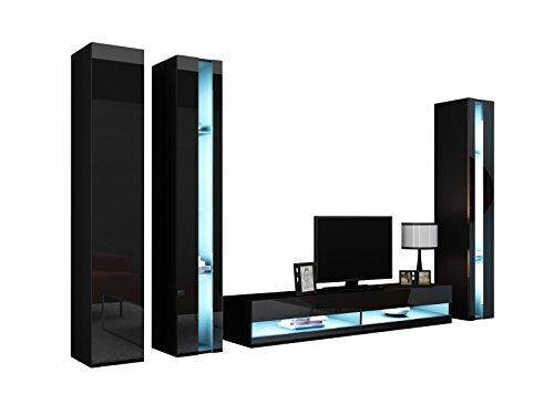 wohnwand vigo new vi anbauwand design mediawand modernes wohnzimmer set h ngeschrank tv. Black Bedroom Furniture Sets. Home Design Ideas