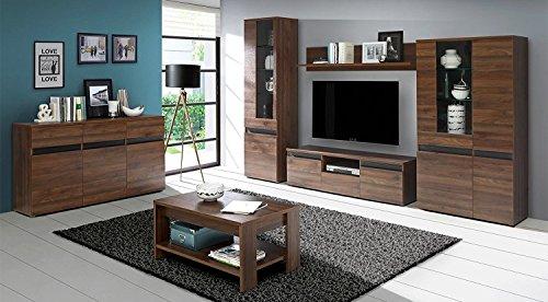 Wohnzimmer set wohnwand fuli couchtisch kommode vitrine tv for Couchtisch vitrine