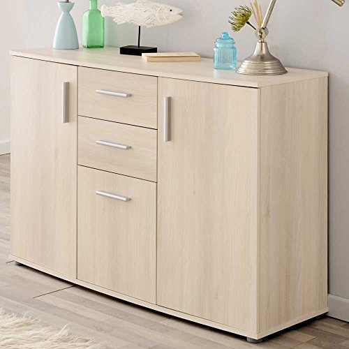 wohnzimmer sideboard in akazie dekor 120 cm breit pharao24. Black Bedroom Furniture Sets. Home Design Ideas