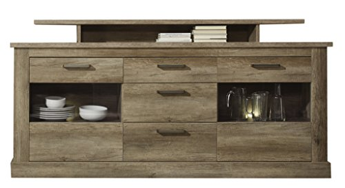 trendteam mt sideboard wohnzimmerschrank kommode eiche monument 206 x 101 cm g nstig online. Black Bedroom Furniture Sets. Home Design Ideas