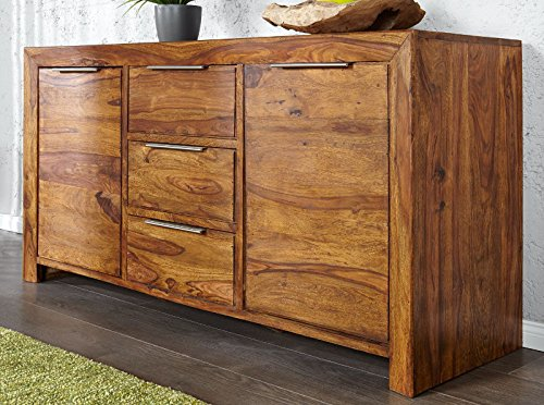dunord design sideboard kommode arona 140cm massivholz sheesham palisander massiv holz natur. Black Bedroom Furniture Sets. Home Design Ideas