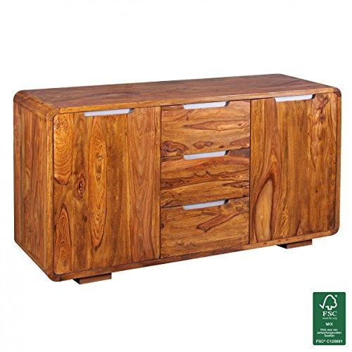 finebuy sideboard massivholz kommode 145 x 45 cm g nstig online kaufen wohnw nde. Black Bedroom Furniture Sets. Home Design Ideas