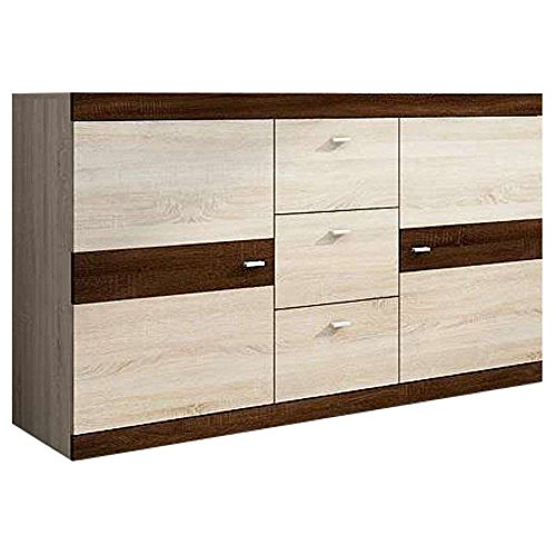 justhome dino kommode sideboard wohnzimmerschrank eiche eiche i hxbxt 86x150x40 cm g nstig. Black Bedroom Furniture Sets. Home Design Ideas